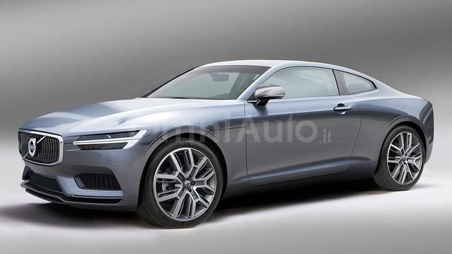Design : le coupé Volvo C90 en rendu virtuel