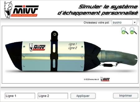 Personalisez votre silencieux avec Mivv-Art...