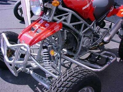 Photo du jour : Quad Ducati Monster 1000