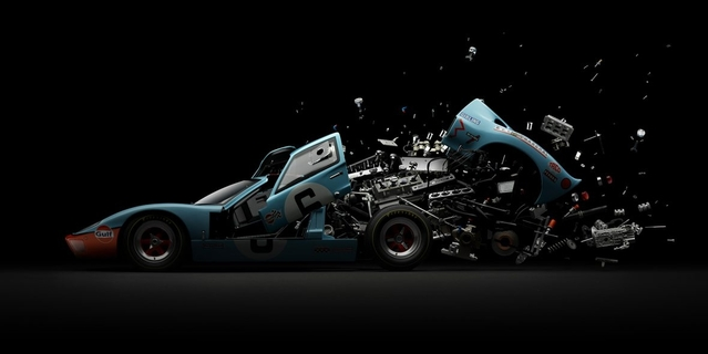 """Disintegrating Series: la """"désintégration"""" d'autos mythiques en photo"""