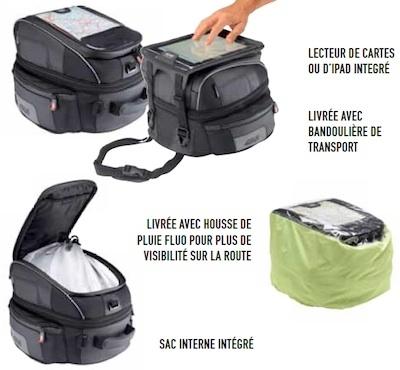 Givi sacoche réservoir XS306: vivement les vacances