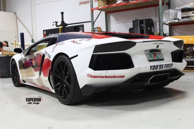 Une Lamborghini Aventador à l'effigie de Donald Trump aux Etats-Unis