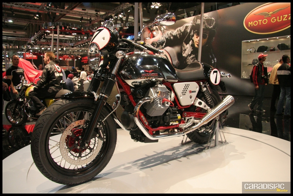 Salon de Milan 2010 en direct : Moto Guzzi Cafe V7 Racer