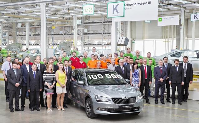 Skoda Superb 3 : déjà 100 000 exemplaires produits