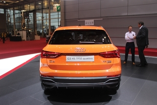 La poupe affiche, une habitude chez Audi, une signature lumineuse travaillée, comme l'avant.