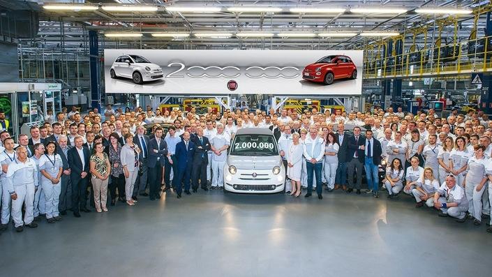 Fiat 500: le succès continue, le cap des 2millions d'exemplaires franchi