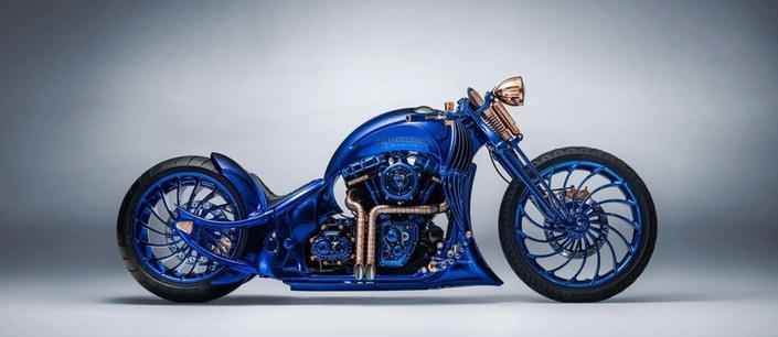 Harley Davidson: une Blue Edition à un million d'euros se montre