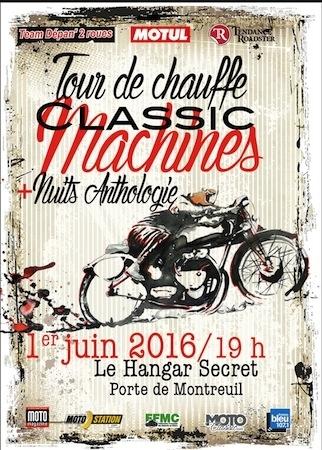 Soirée Tour de Chauffe Classic Machines: ce soir Porte de Montreuil