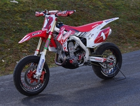 Exclusif, essai Honda CRF 450R Luc1, championne de France de supermotard: la version 2013