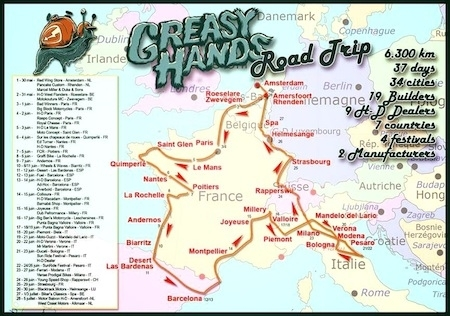 Greasy Hands Road Trip ou l'aventure de 2 Riders  à la rencontre des meilleurs préparateurs européens