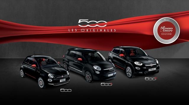 """Fiat : séries limitées """"Rosso Amore Edizione"""" pour les 500, 500L et 500X"""