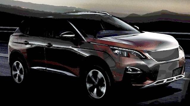 Le design du Peugeot 3008 apparaît en augmentant la luminosité de l'image (Source : Motor1)