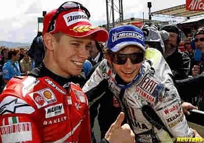 Moto GP: Italie: Le podium: 1 Rossi.