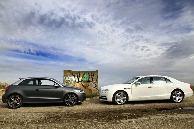 Cara Drag Race : Bentley Flying Spur V8 507 ch vs Audi S1 231 ch