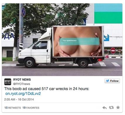 Russie : sur un camion, une publicité osée provoque plus de 500 accidents en 24h