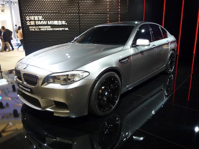 Caradisiac au salon de Shanghai - BMW M5 : moins de cylindres, plus de chevaux