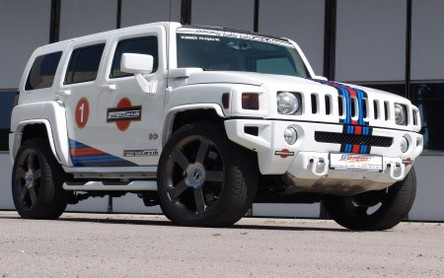 Hummer Rennwagen Martini Racing par Geigercars : on the rocks