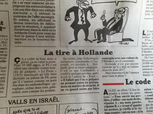 François Hollande candidat à sa succession avec une Volkswagen