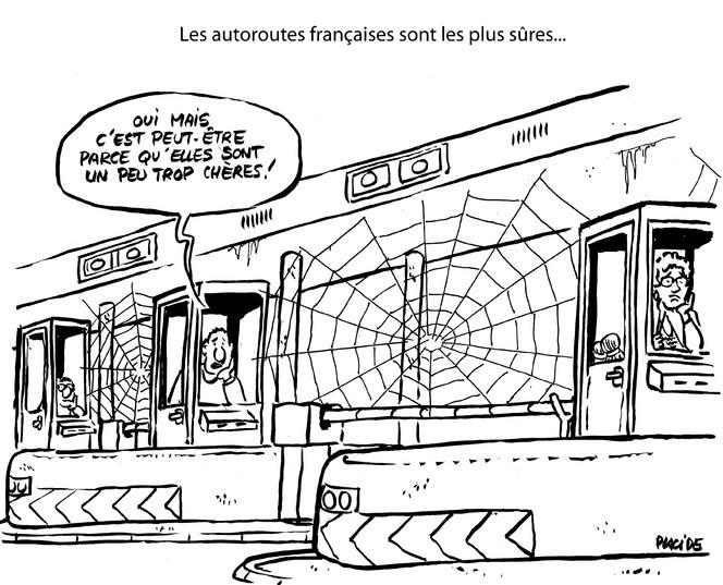 Le dessin du jour – Autoroutes françaises : sûres car coûteuses ?