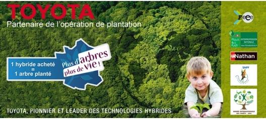"""Toyota Lexus partenaires de l'opération """"Plus d'arbres plus de vie!"""""""