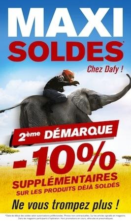 Soldes: 10 % de remise suplémentaire chez Dafy