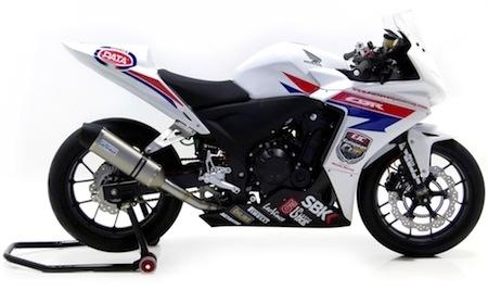 Leo Vince aligne la Honda CBR 500R (2013)