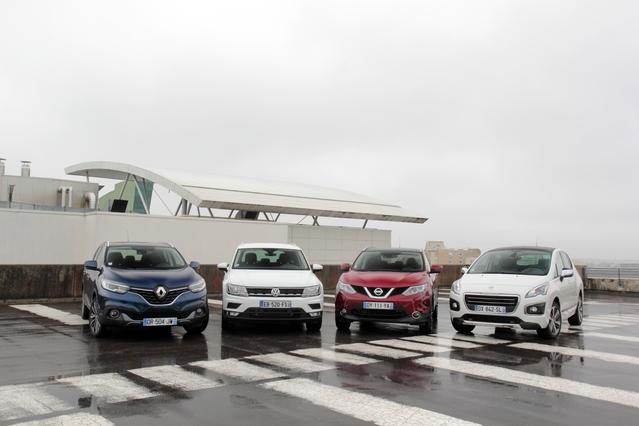 Comparatif vidéo - Volkswagen Tiguan vs Renault Kadjar vs Nissan Qashqai vs Peugeot 3008 : c'est qui le patron?