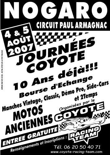 Journées Coyote les 4 et 5 aout sur le circuit Paul Armagnac de Nogaro