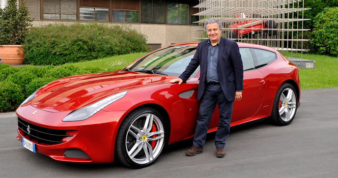 Christian Clavier visite Ferrari