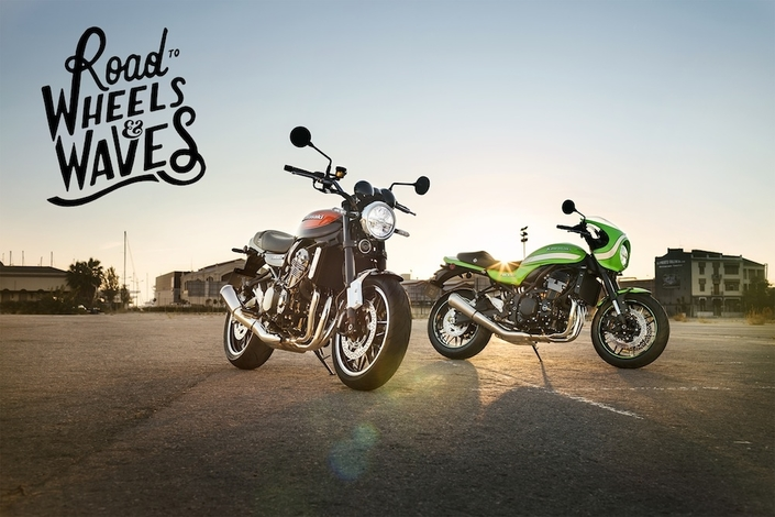 "Kawasaki participe à l'événement ""Road to Wheels & Waves"""
