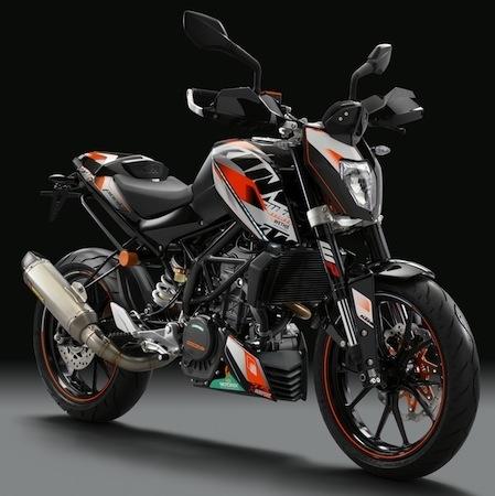 KTM: des stickers pour la Duke (125 et 200cc)