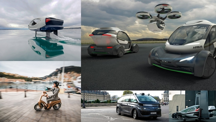 Le salon Viva Technology donne un aperçu des mobilités de demain: électriques, connectées, roulantes, flottantes, voire volantes...