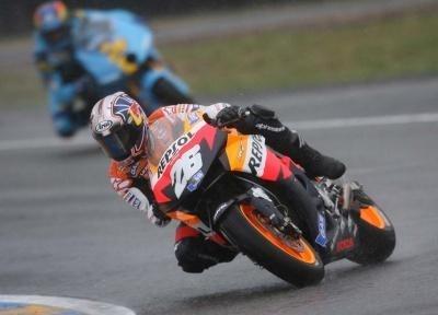Moto GP: Grande Bretagne D.1: Pedrosa se fait à la pluie.
