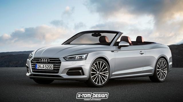 Design : un graphiste imagine l'Audi A5 en cabriolet et Sportback