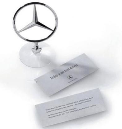 Joli coup du marketing Mercedes : de fausses étoiles au bout des capots !