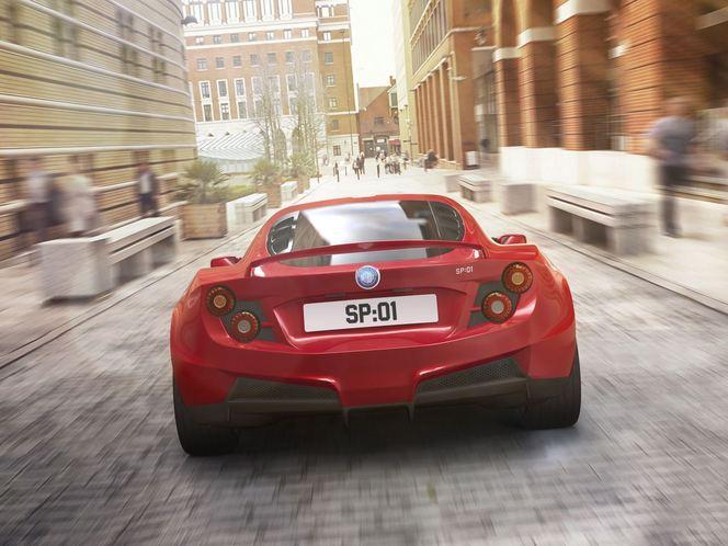 """Detroit Electric SP:01 un arrière de type """"fastback"""""""
