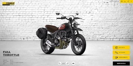 Ducati: un nouveau configurateur pour votre Scrambler