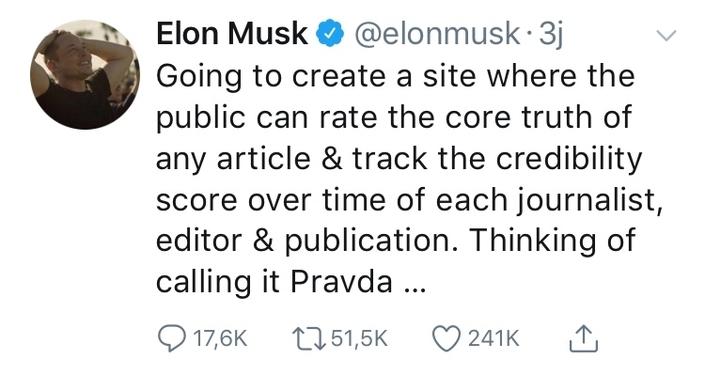 Le patron de tesla Elon Musk invente le #balancetonjournaliste