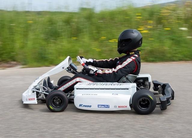 Bosch dévoile un karting électrique développé avec la FIA