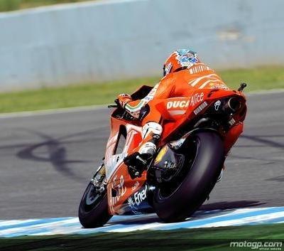 Moto GP - Espagne D.2: Stoner ne visait que la seconde ligne