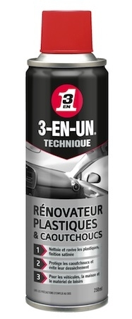 3-en-Un pour la moto: Rénovateur Plastiques & Caoutchoucs