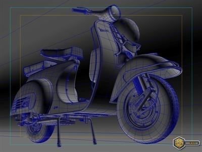 Photo du jour : Scooter et infographie
