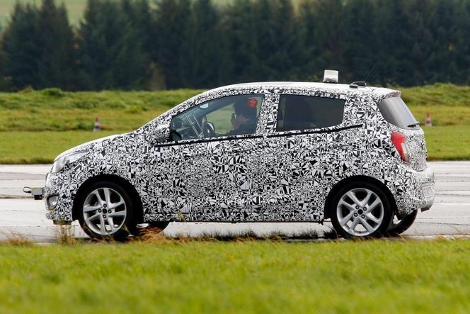 La future Opel Karl surprise en phase finale de mise au point