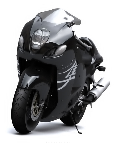 Photo du jour : Suzuki Hayabusa en 3D