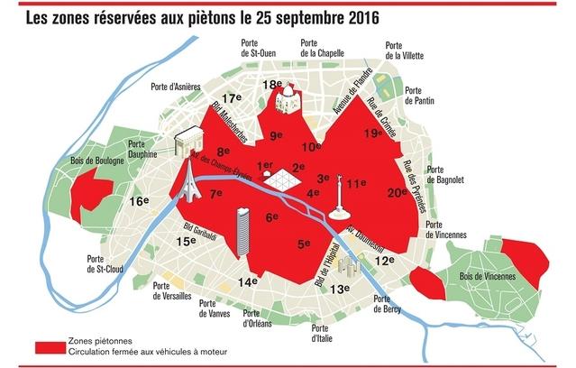 Paris: la journée sans voiture aura lieu le 25septembre