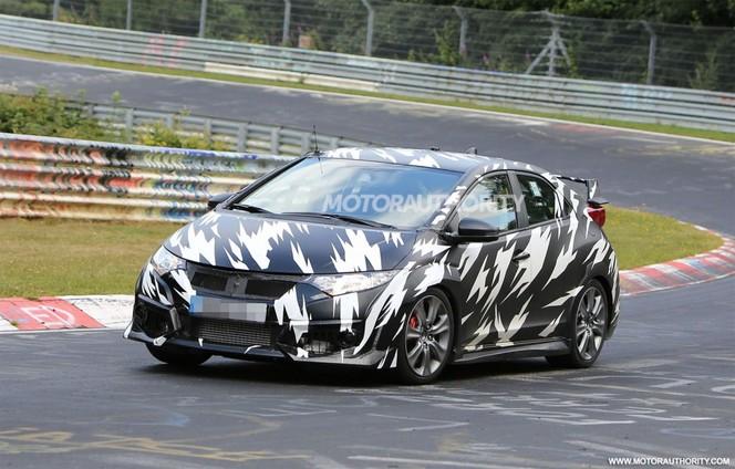 Surprise : la future Honda Civic Type R déjà sur le Ring