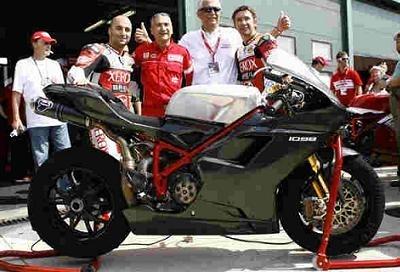 Superbike: Bayliss est monté sur la 1098 F08.