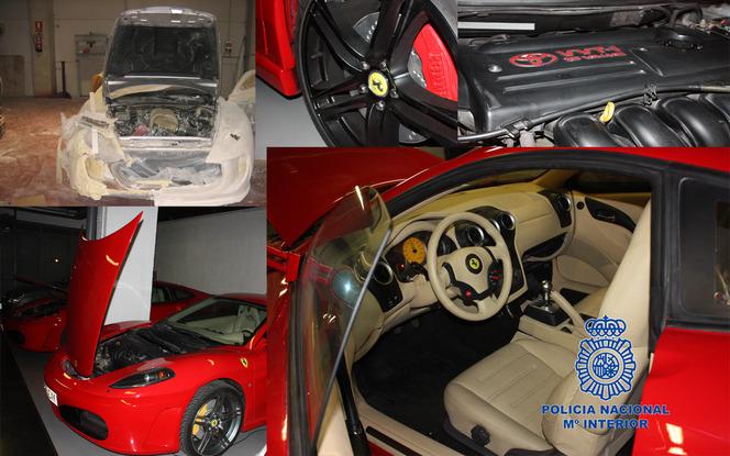 Voici à quoi ressemblaient les fausses Ferrari espagnoles