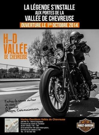 Harley-Davidson: ouverture de la 51ème concession en Vallée de Chevreuse
