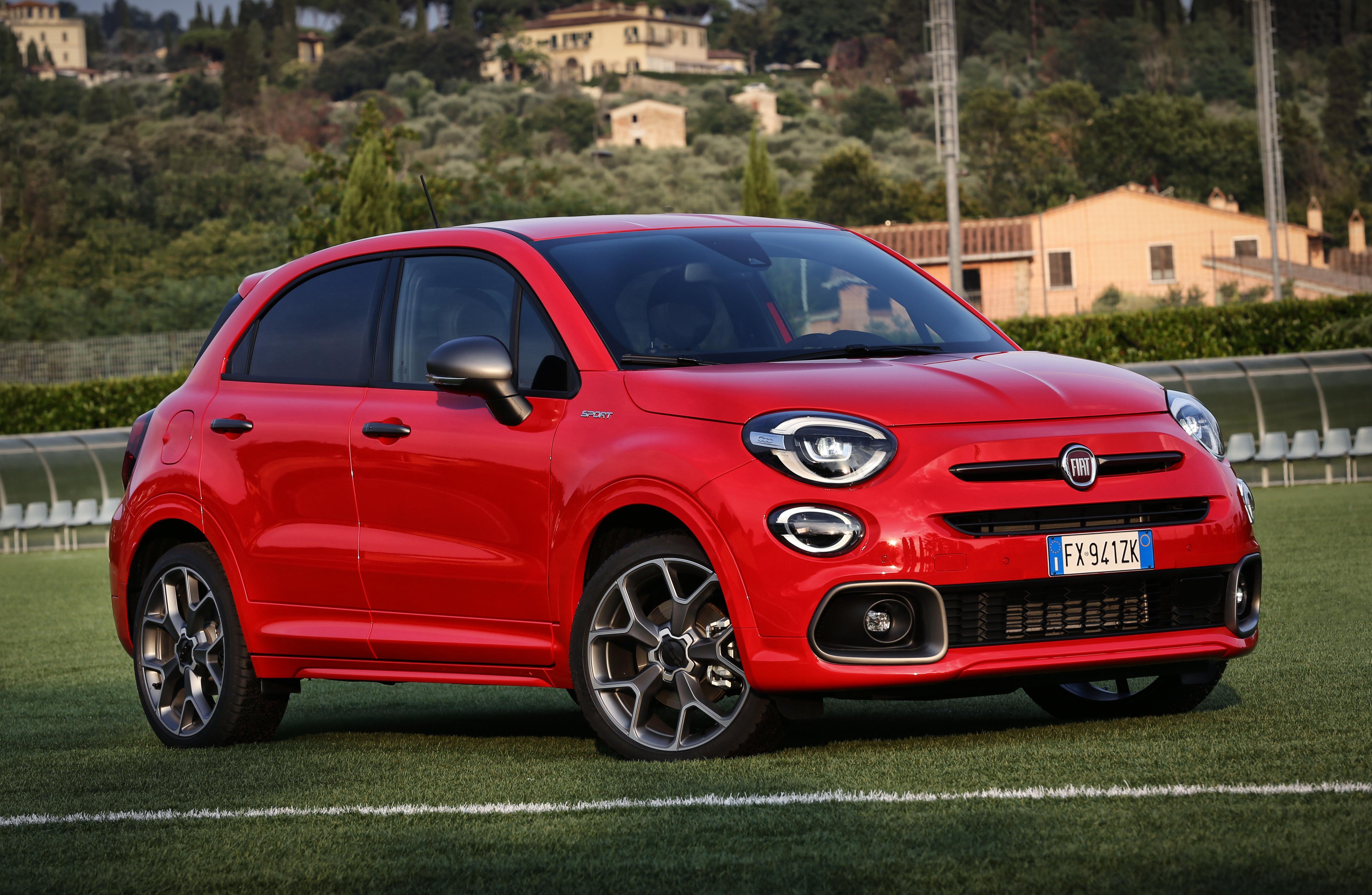 Fiat 500 Imprimé Qualité Véritable Cuir Noir Porte-Clés